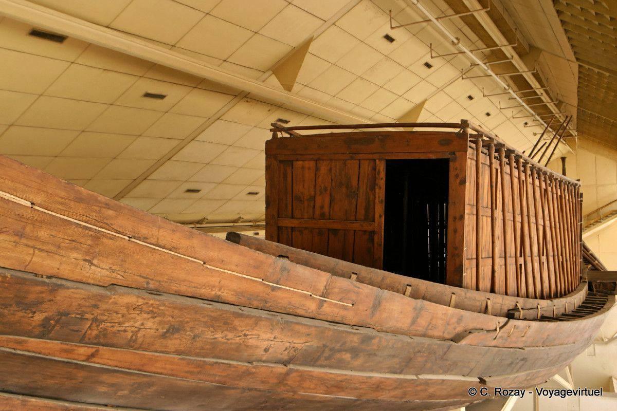 La nave Cheope, legno di cedro, Giza - Egitto