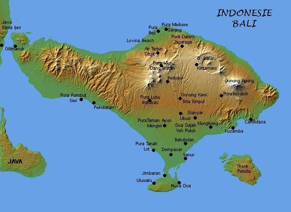 Cartina Bali Indonesia.Mappa Di Bali Indonesia