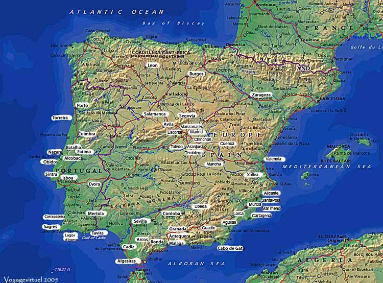 Cartina Michelin Sardegna.Cartagena Spagna Cartina