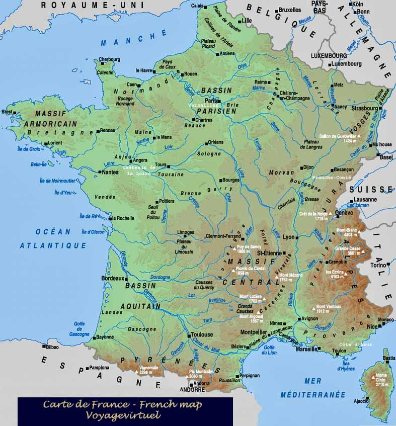 Mappa cartina francia