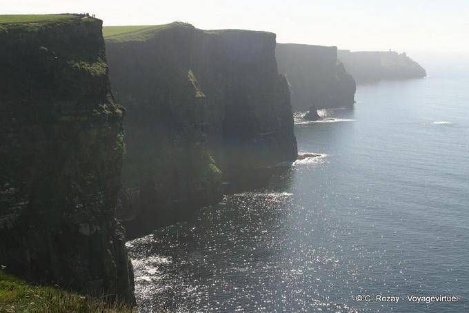 Perspective vers le sud, Cliffs of Moher, Irlande