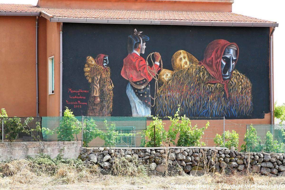 Tinnura, il Mamuthones, murale - Sardegna